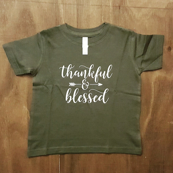 Thankful & Blessed | Youth - Vintage Green