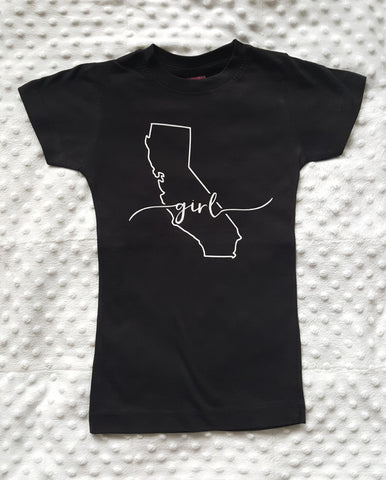 California Girl shirt | Black + White Lettering