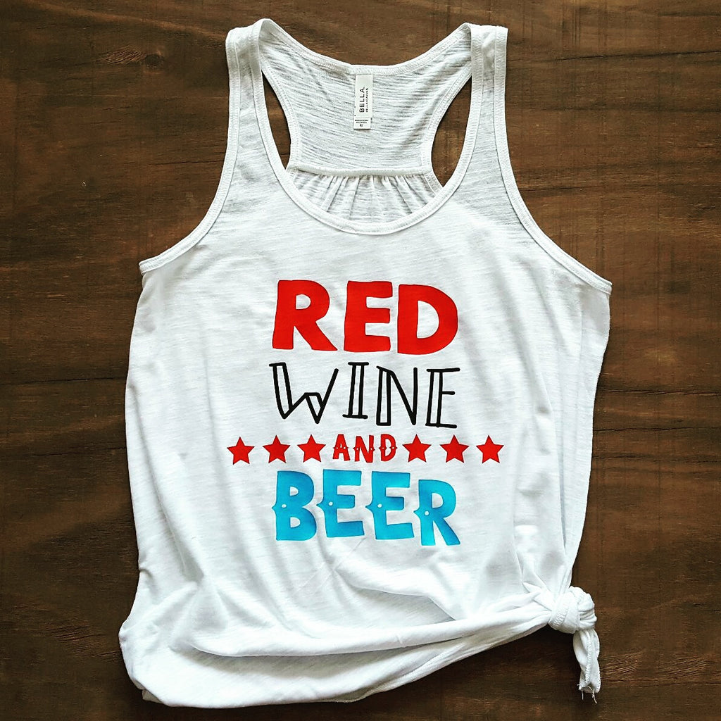 Red Wine and Beer Tank | White Slub