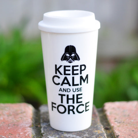Keep Calm and Use the Force - Coffee Travel Mug