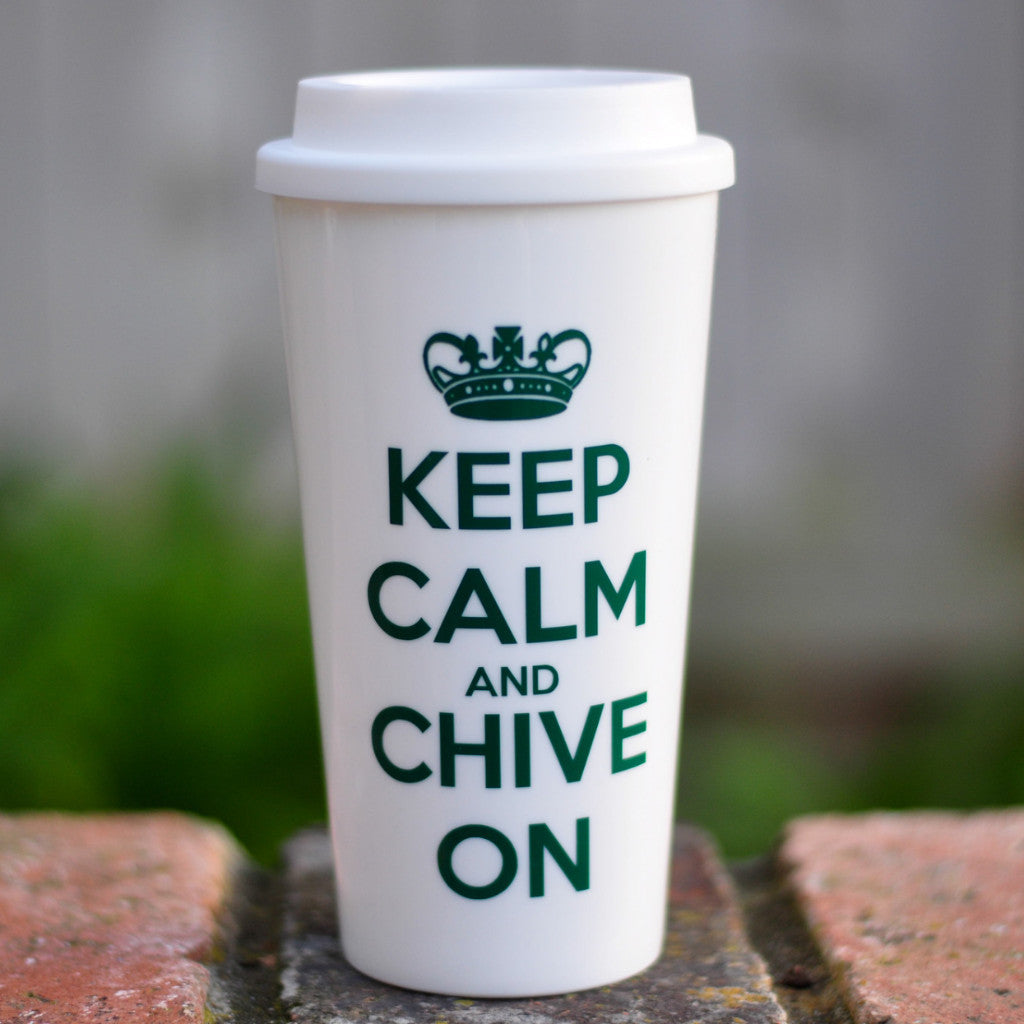 Keep Calm and Chive On - Coffee Travel Mug