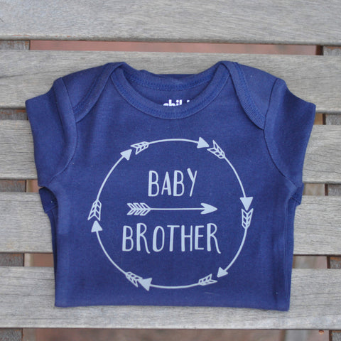 Baby Brother Blue Tribal Onesie | Navy