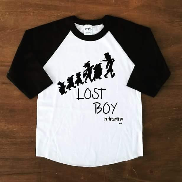 Lost Boy in training | Raglan - Black & White