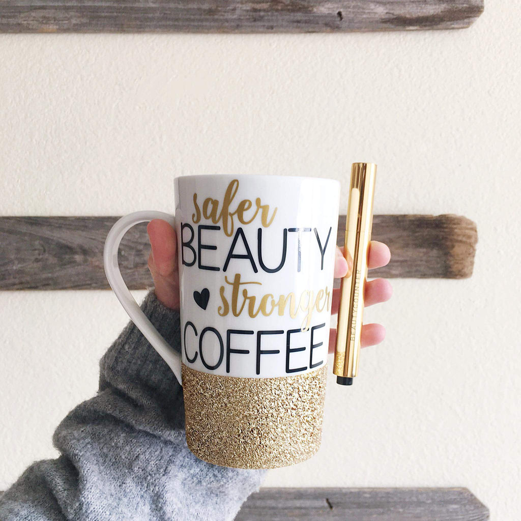 Safer Beauty Stronger Coffee - Ceramic mug