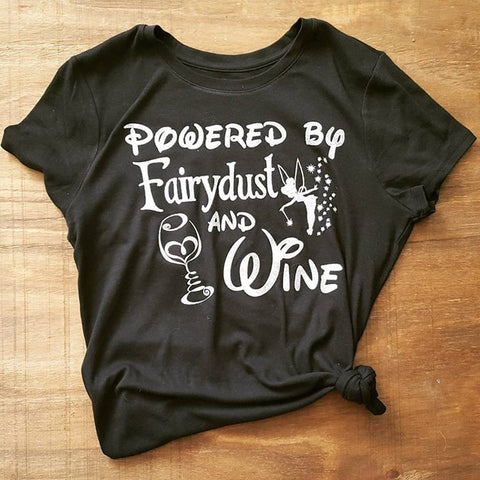 Powered by Fairydust and Wine Tee | Black