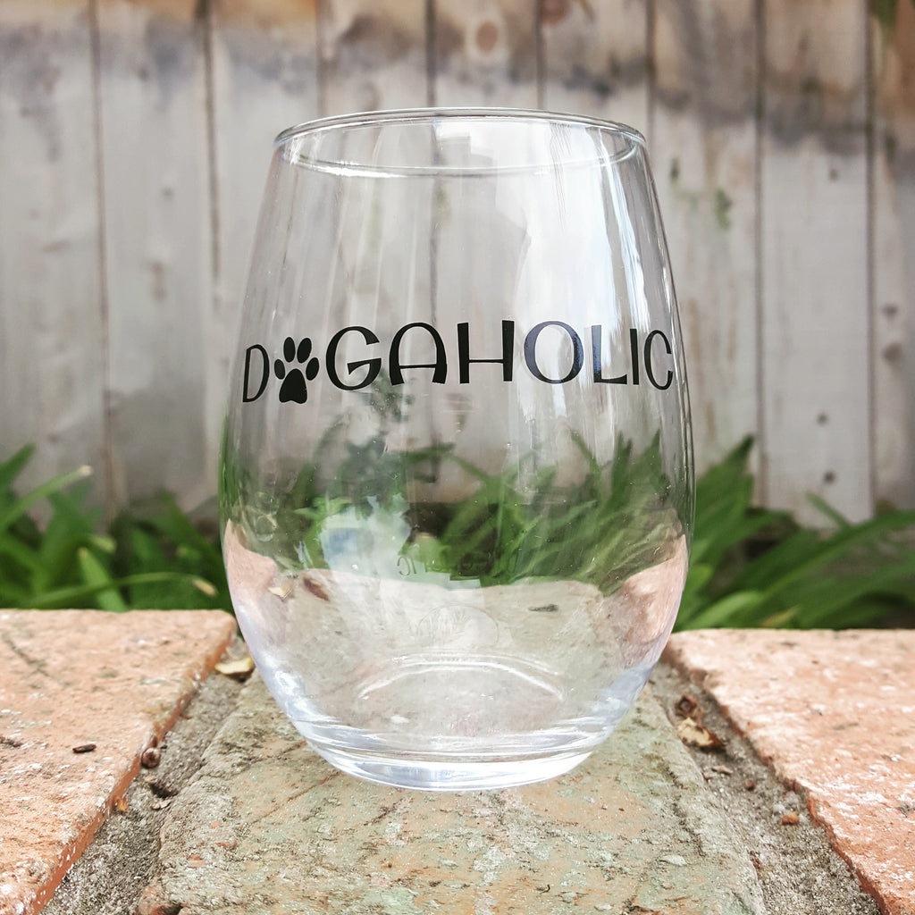 Dogaholic - Wine Glass