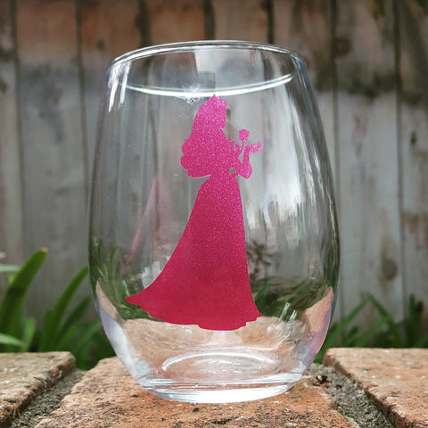 Princess Silhouette - Aurora - Wine Glass