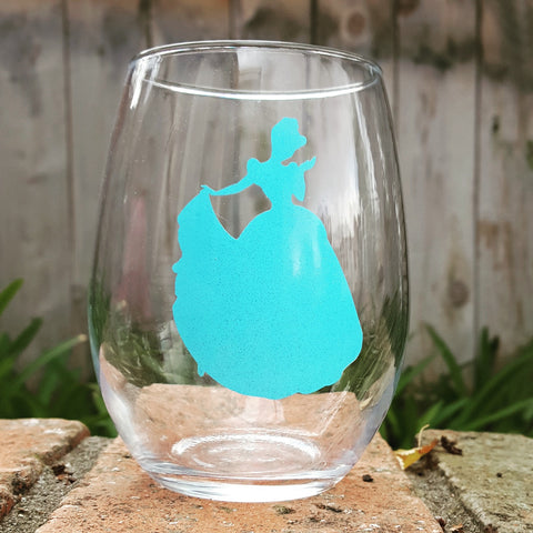Princess Silhouette - Cinderella - Wine Glass