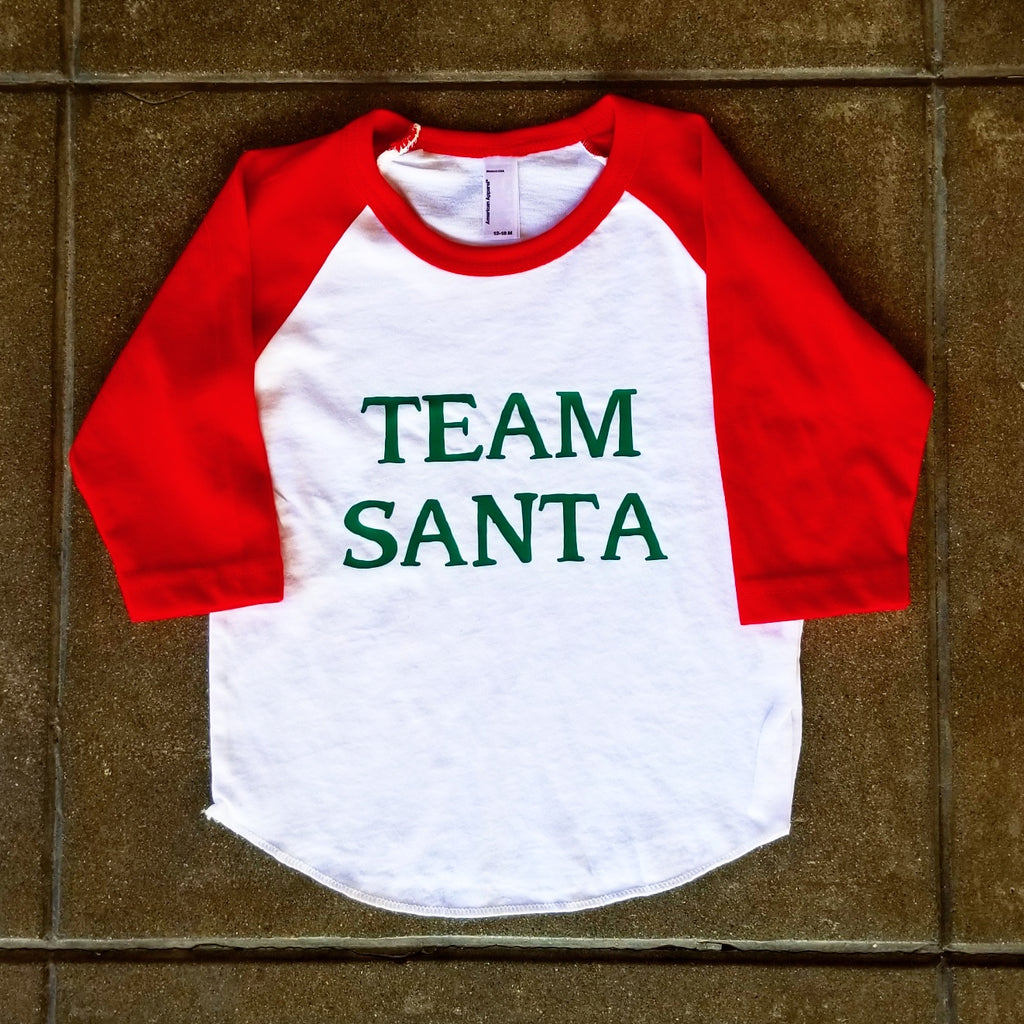 Team Santa | Raglan - Red & White