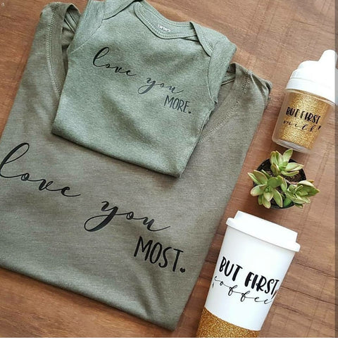 Love you more - most | Mama & Kiddos Set | Olive