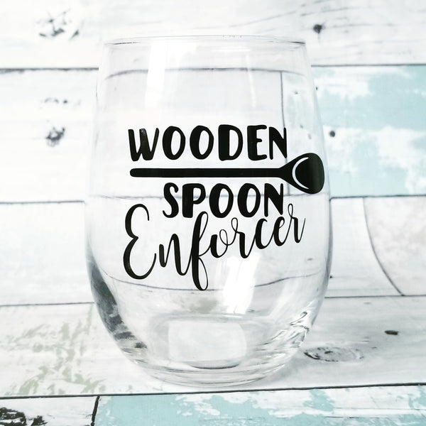 Wooden Spoon Survivor/Enforcer - Wine Glass