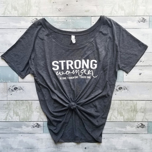 Strong Woman Tee | Heather Grey