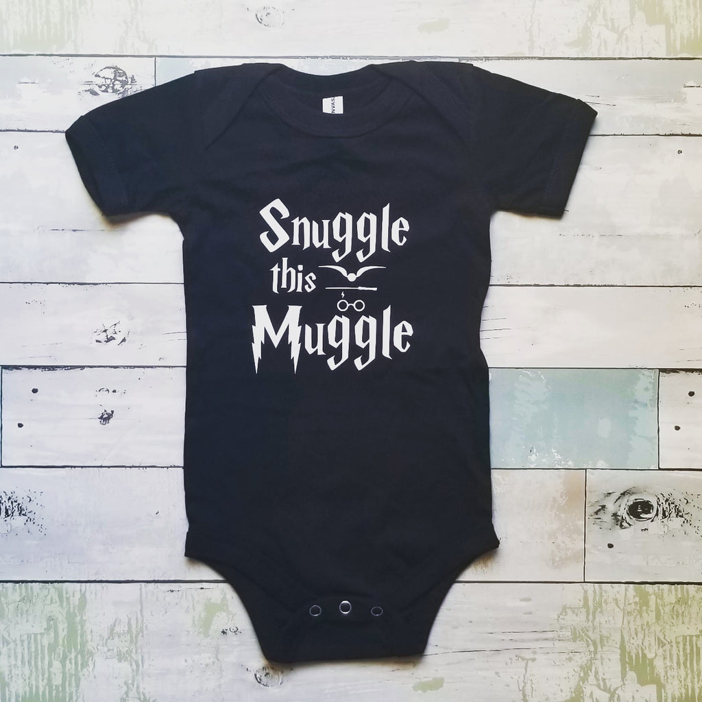 Snuggle this Muggle Onesie | Black