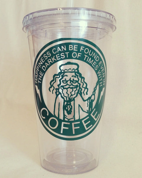 Happiness Can Be Found in the Darkest of Times - 16oz Tumbler