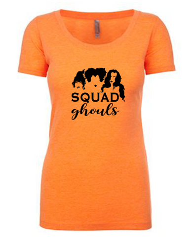 Squad Ghouls Scoop Tee | Orange