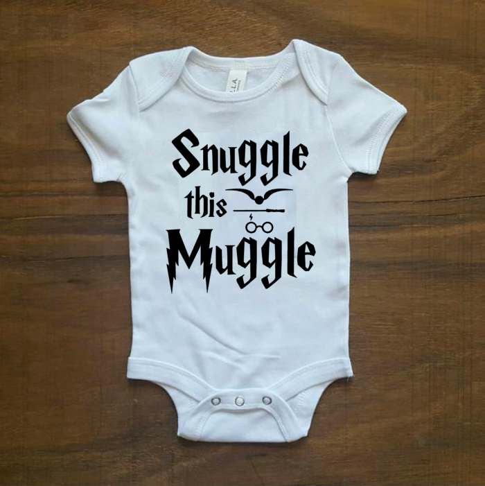 Snuggle this Muggle Onesie | White