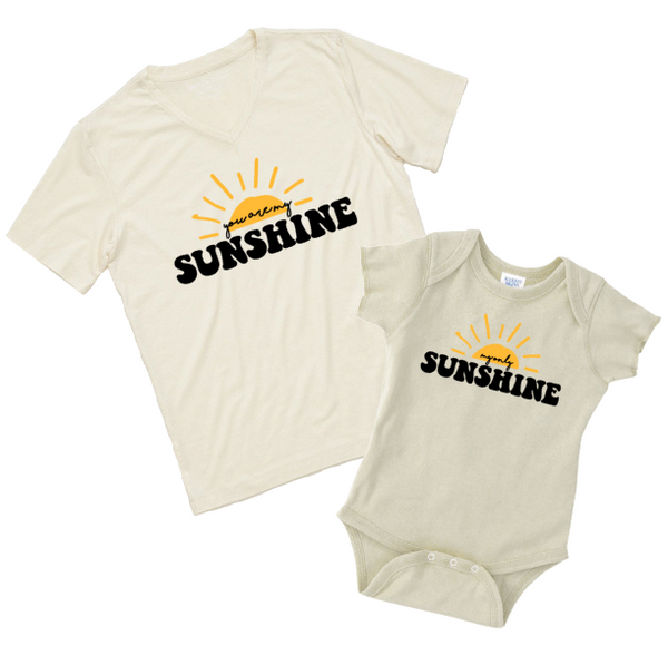 You are my Sunshine | Mama & Kiddos Set | Oatmeal