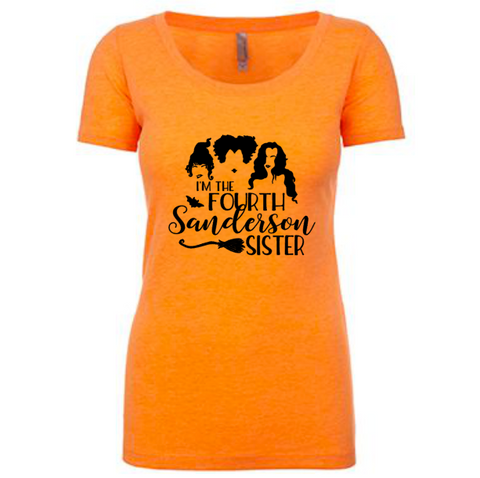 I'm the Fourth Sanderson Sister Tee | Orange