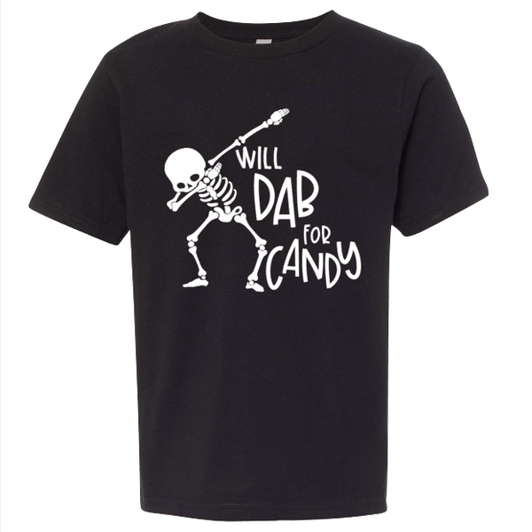 Skeleton Dab Youth Tee | Black