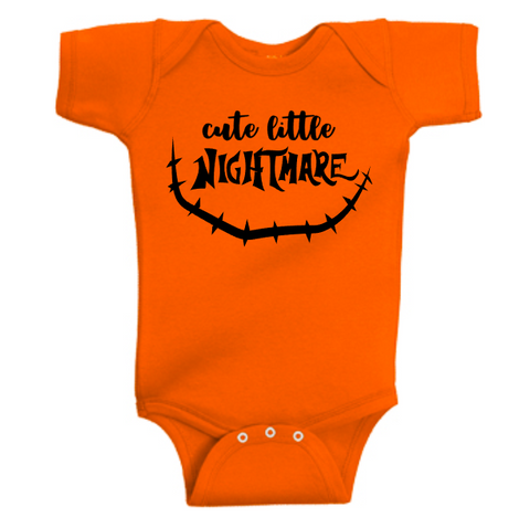 Cute Little Nightmare Onesie | Orange