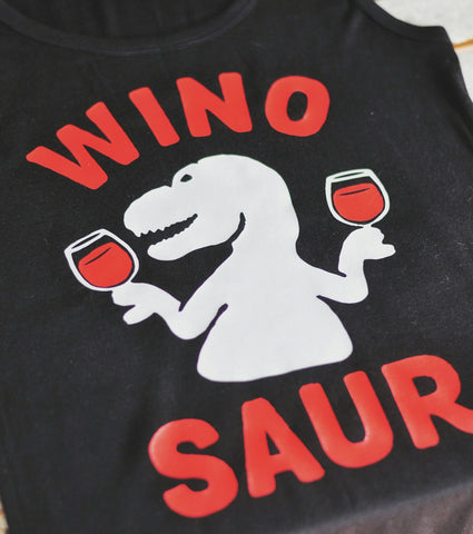 Wino Saur Tank | Black + Red