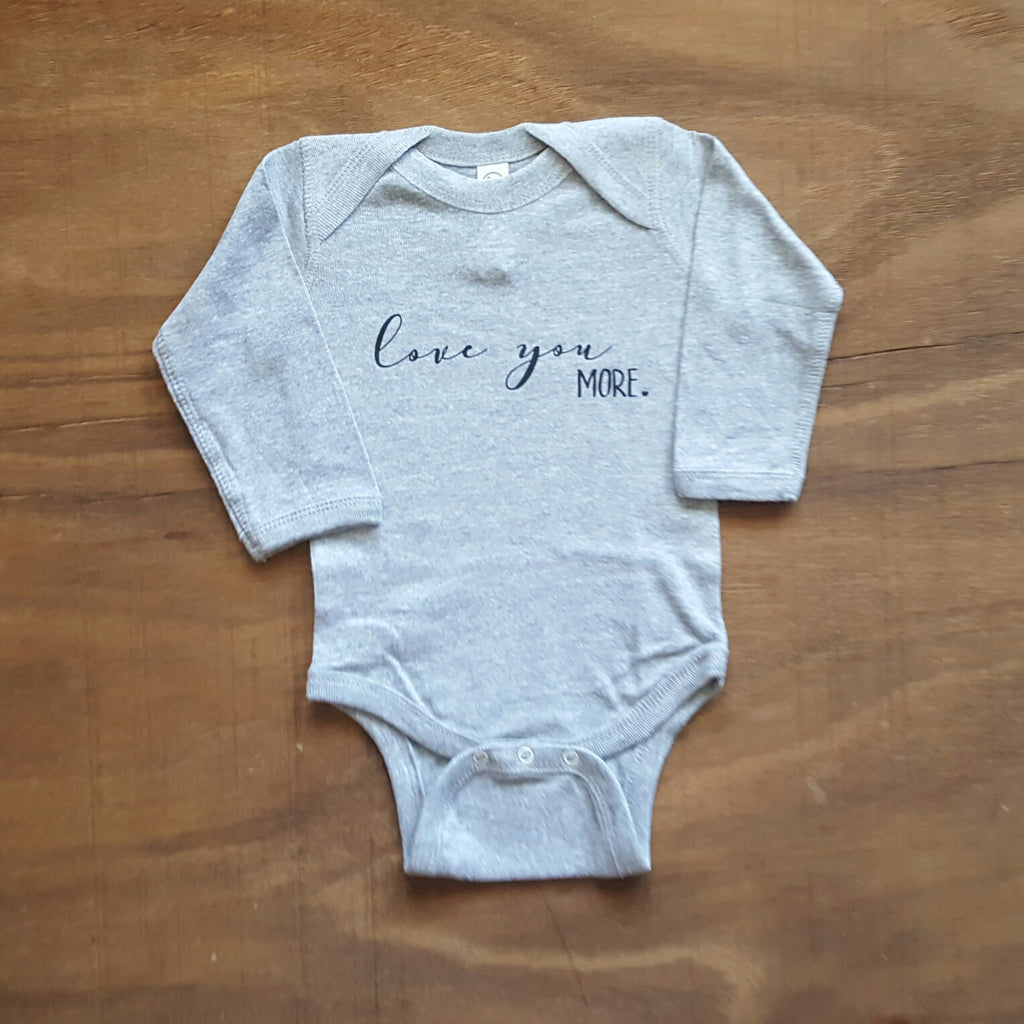 Love You More Onesie | Heather Grey