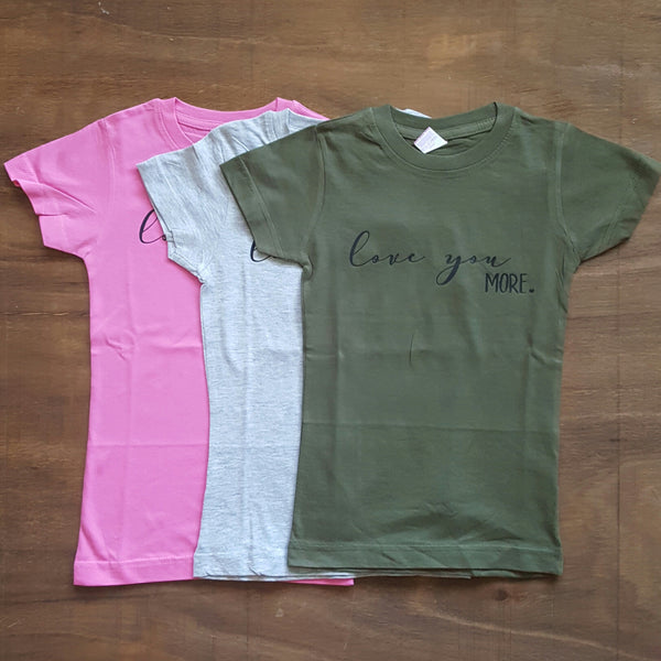 Love You More Tee | Heather Grey