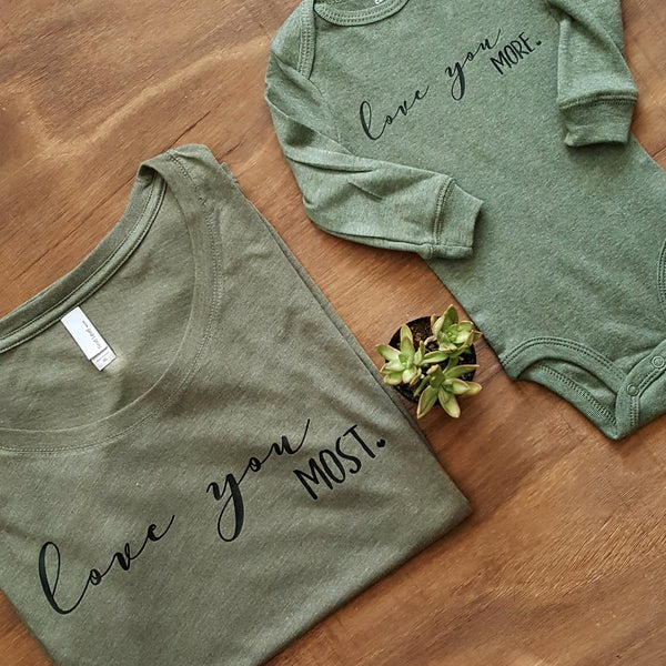 Love You More Tee | Vintage Green