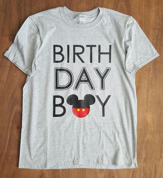 Birthday Boy Mouse Tee | Grey