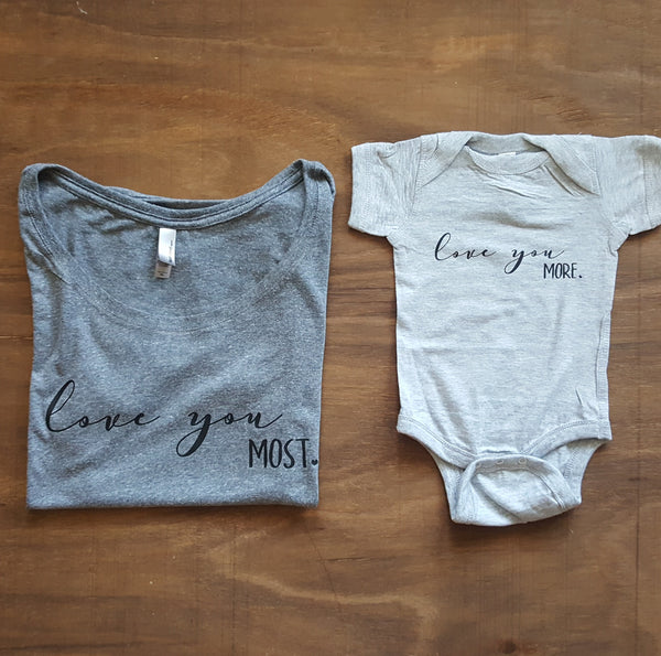 Love You Most Tee | Heather Grey