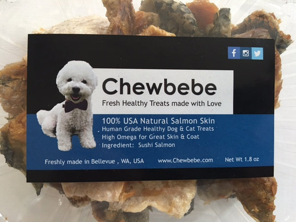 Chewie's All Natural Salmon Skin Treats
