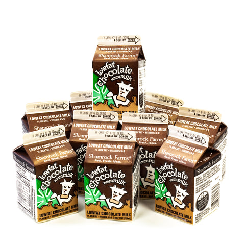 CHOCOLATE MILK LOW FAT 10- 1/2 PINTS