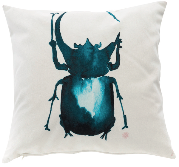 Beetle and dragonfly soft cushions will add a soft touch of nature to your home decor.