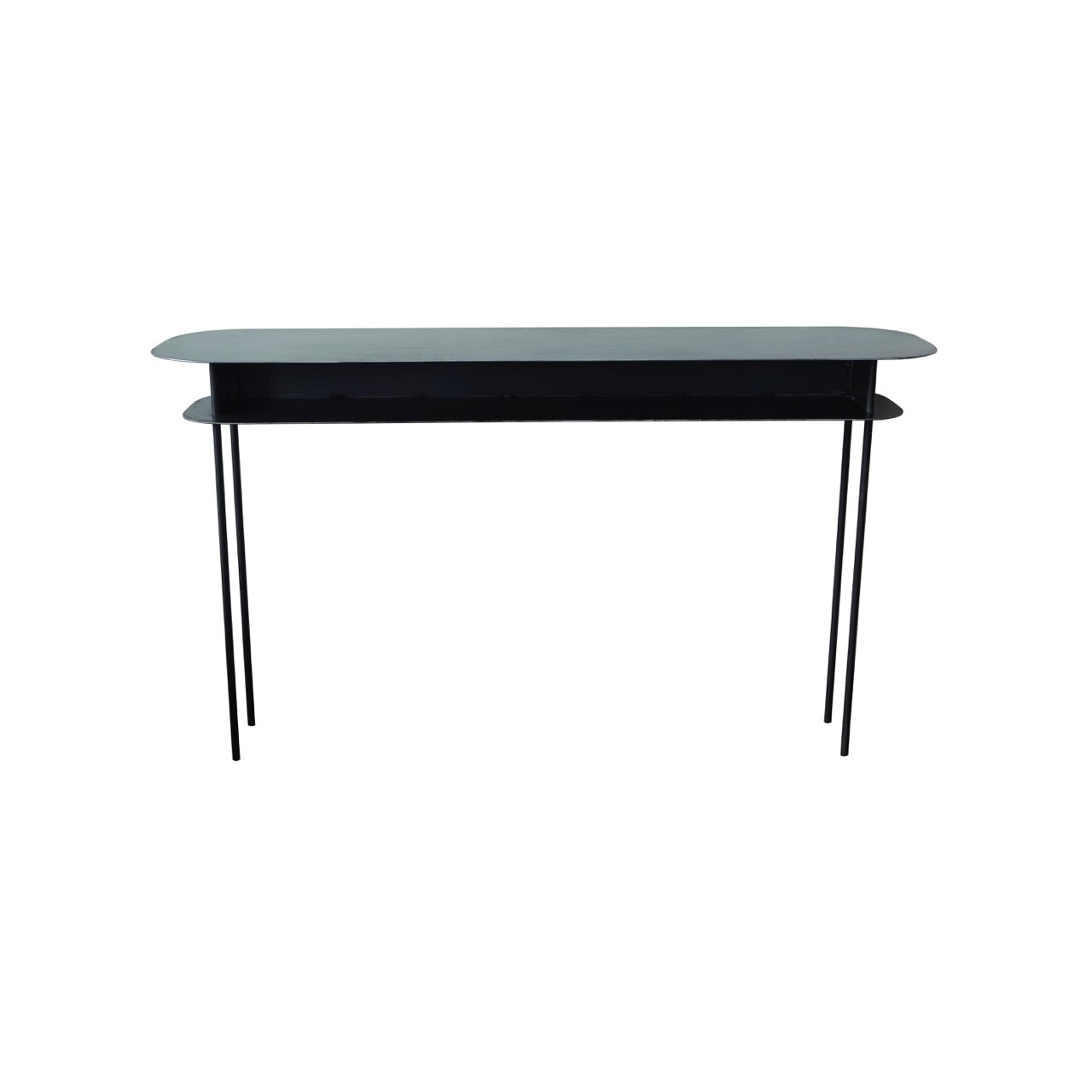 Maison Sarah Lavoine elegant slim Tokyo console table is ideal for entrance, lounge or dining room. Made in waxed steel and handcrafted by French artisan.