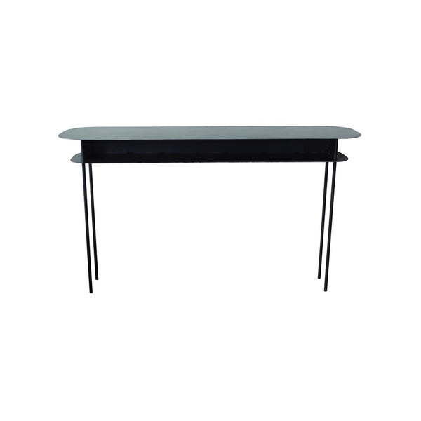 Maison Sarah Lavoine elegant slim Tokyo console table is ideal for entrance, lounge or dining room. Made in waxed steel and handcrafted by French artisan. |