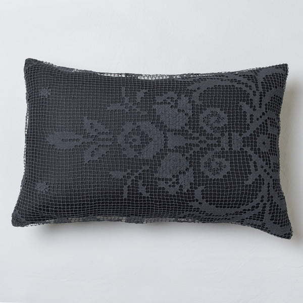 Each of these cushion is unique and a very exceptional piece, entirely handmade from vintage crochet lace collected around French regions by Veronique de Soultrait
