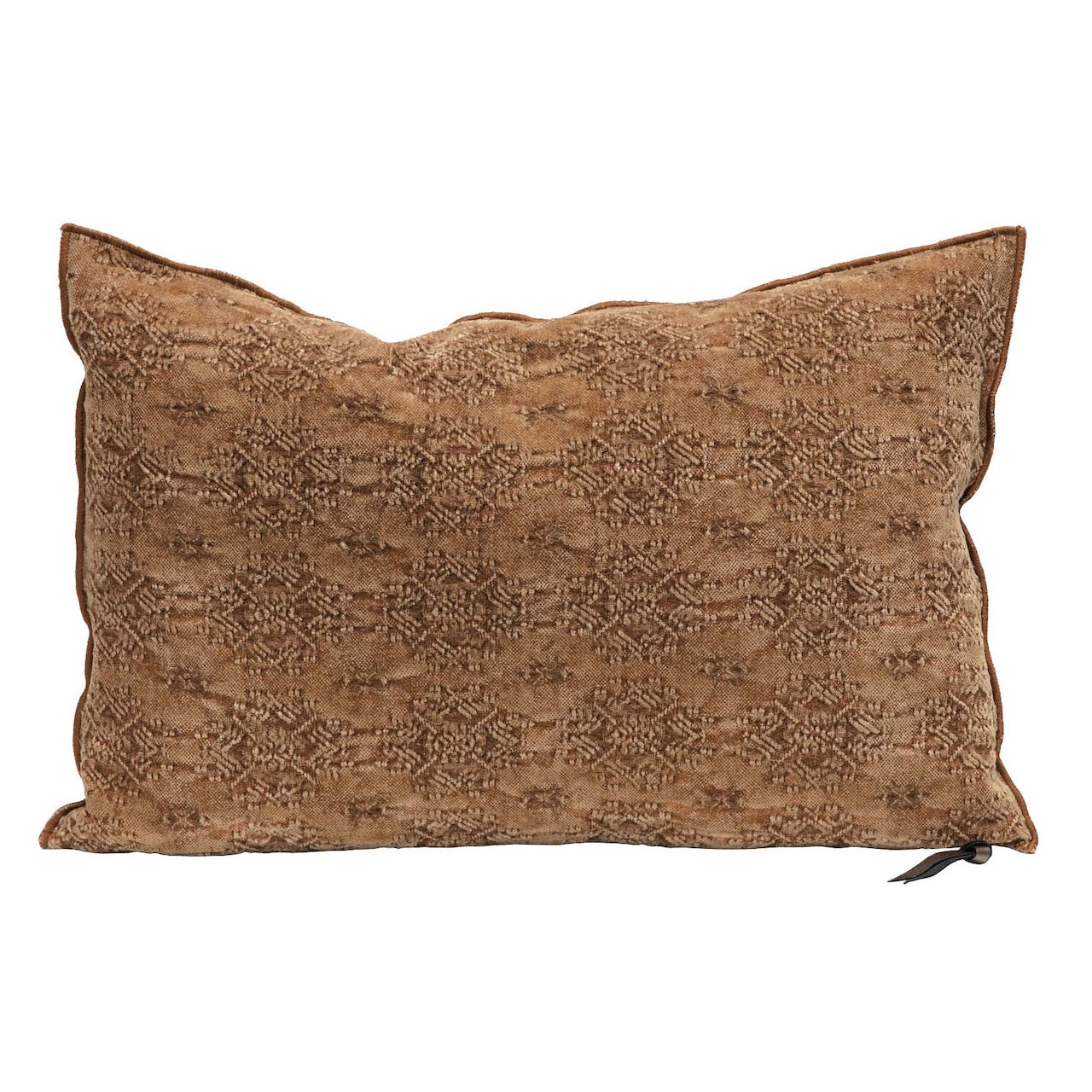 Stone washed jacquard cushion