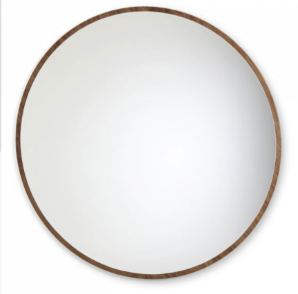 "With its circular shape, the ""Bulle"" mirror designed by Sarah Lavoine brings comfort and roundness to the daily life. It dresses the walls with a delicate framework that brings light into the room."