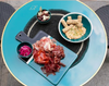 New ceramic presentation board from Maison Sarah Lavoine is ideal for cutting vegetables as much as for presenting tapas, appetiser and other dishes.