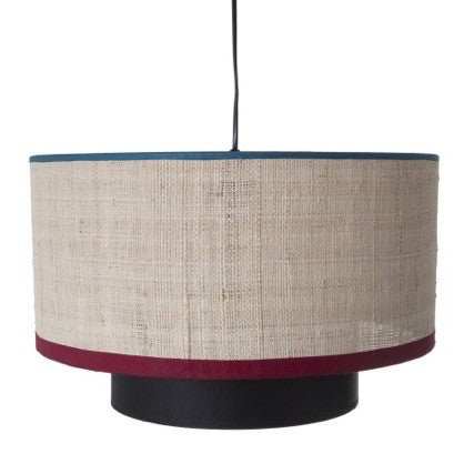 Maison Sarah Lavoine pendant line Bianca combines generous round shapes with the sophisticated raffia and colourful cotton material. It will bring warmth and happiness in your room. |