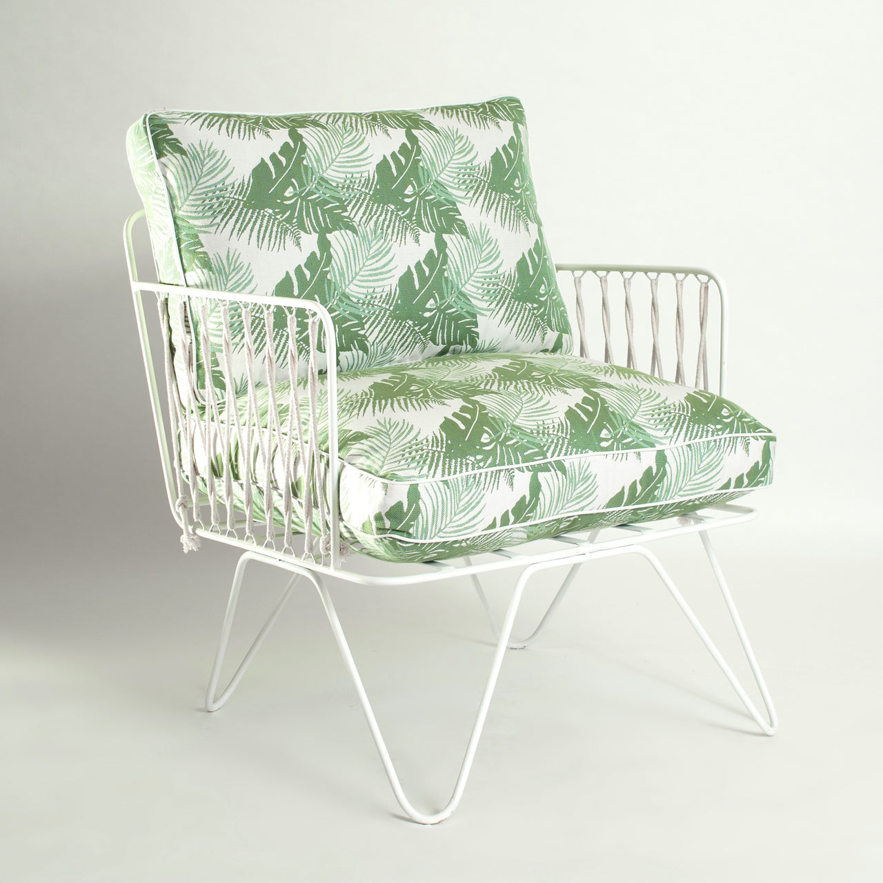 Outdoor Croisette Chair: Tropical Limited Edition