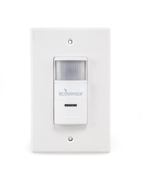 Eco Sensor ES902: 180° Dual Technology PIR Wall Switch Motion Sensor with Microphone