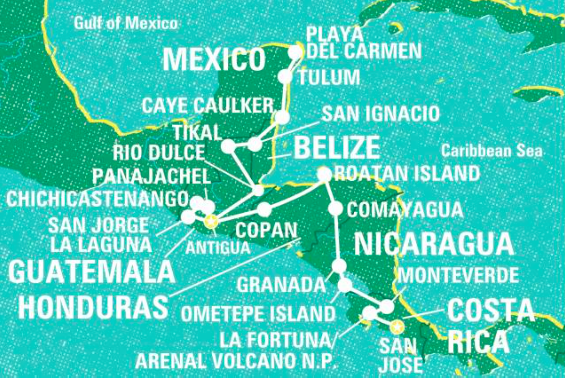 Discover Central America, Playa Del Carmen to San Jose - 32 Days