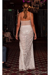 White Crystal Embellished Haute Couture Gown
