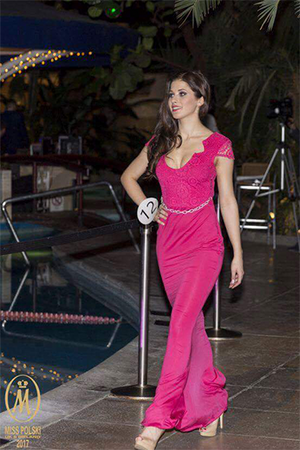 Pink Lace Evening Gown