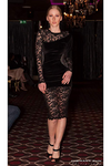 Black Velvet Flower Lace Lux Dress