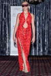 Red Flowers Sequin Evening Gown