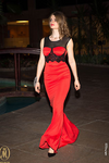 Red Black Lace Embroidery Mermaid Evening Gown