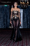 Black Gold Sequined Couture Gown