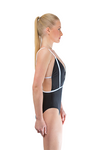 Black Backless One Piece Swimsuit